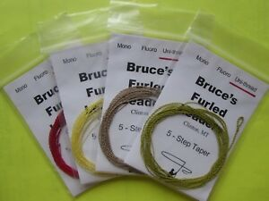 Uni-thread Furled Fly Fishing Leader for 3 - 6 wt flylines