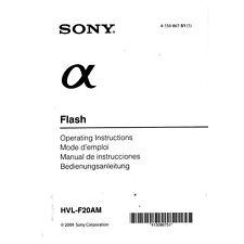 Sony HVL-F20AM *Original Manual*
