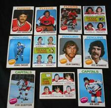 1975-76 Ice Hockey Topps OPC x11 Trading Cards, Penguins, Flyers, Capitals