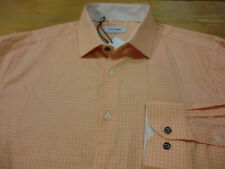 DUCHAMP LONDON Dress Sport Shirt, NWT - Mens L (16.5) - Tailored Fit Orange