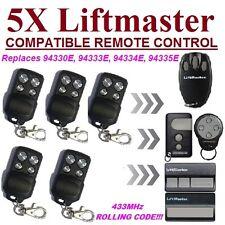 5 x Liftmaster 94335E / 94333E / 94330E compatible remotes / replacements 5pc's