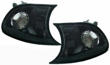 BLACK FRONT INDICATORS FOR BMW E46 3 SERIES COUPE & CONVERTIBLE 4/1999-08/2001