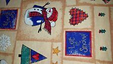 "Vintage Christmas Print ""Let it Snow""Tablecloth  60"" x 82"" NWOP"