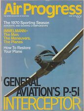AIR PROGRESS June 1970 Immelmann, P-51,  Interceptor, Musketeer Super R, Thermal