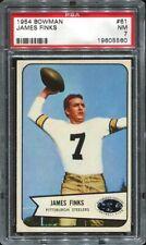 1954 Bowman #61 Jim Finks PSA 7 Pittsburgh Steelers HOF