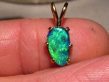 2.1 ct.  N-1  Black  Opal  Pendant -- 22 k Yellow Gold