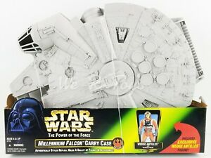 Star Wars POTF Millennium Falcon Carry Case & Wedge Antilles Figure 1997 Kenner