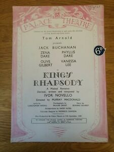 King's Rhapsody by Ivor Novello, Palace Theatre, c1949, Great condition.