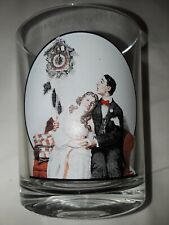 The Saturday Evening Post Norman Rockwell Glassware Courting at Midnight