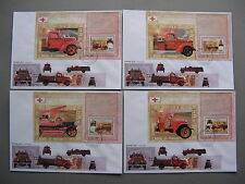 CONGO, 7x cover FDC 2006, S/S fire engine truck
