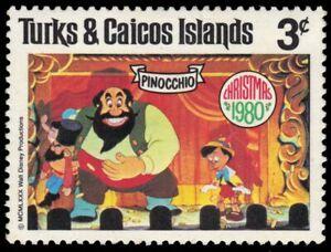 """TURKS and CAICOS 446 - Disney Christmas """"Pinocchio"""" (pa94213)"""