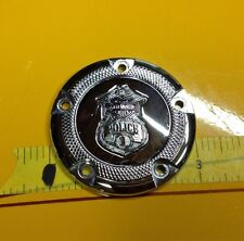 Rare Harley Davidson Police Officer Badge, 5 Bolt Timer timing Cam Cover, Emblem