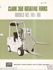 Fork Lift Truck Brochure - Clark - M2 M5 M6 - 360 Rotating - 1967 (Lt87)
