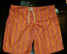 New SLATE&STONE Made in Italy Alexander OrangePink Swim Trunks Swim Shorts L$165