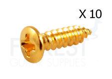 "Gibson ® size pickguard screws gold (10) #3 x 3/8""  - 2.28mm x 9.52mm"