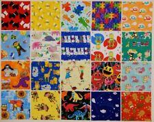 "5"" Cotton Fabric charm squares...CHILDREN'S    NOVELTY PRINTS MIXED COLOURS x 20"