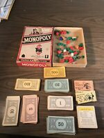 Vintage Parker Brothers Monopoly 1954 - All pieces accounted for except board.