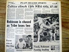 1976 headlne newspaper BOSTON CELTICS win their 13th NBA BASKETBALL CHAMPIONSHIP