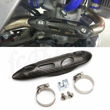 Motorcycle ATV Exhaust Muffler Pipe Heat Shield Leg Ankle Burn Guard CarbonFiber