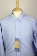 Ralph Lauren Men's No Pattern Loose Fit Button Down Casual Shirts & Tops