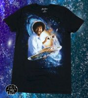 New Bob Ross Men's PBS Joy of Painting Space Galaxy Vintage T-Shirt