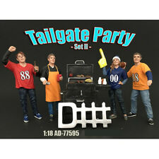 TAILGATE PARTY SET II 4PC FIGURE SET 1:18 BY AMERICAN DIORAMA 77595