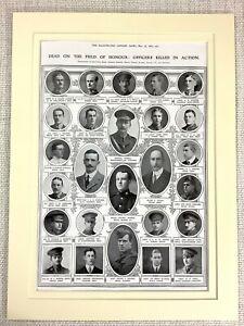 1915 WW1 Print Soldiers Killed in Action War Memorial Royal West Kent Regiment