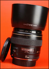 Canon EF 85mm F1.8 USM Telephoto Lens - Sold with Front & Rear Lens Caps + Hood