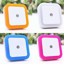 0.5 Вт Plug-in Автоматический датчик контроля светодиодный ночник лампа для спальни прихожей белый