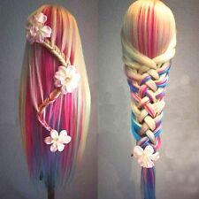 26'' Beauty Salon Human Hair Mannequin Practice Training Head Hairdressing Clamp