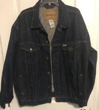 Levi Strauss Signature Denim Trucker Jacket Button Down Size XL 100% Cotton *J