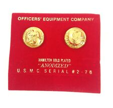 USMC Officers' Equipment Company Button Dress Gold Plated insignia Anodized