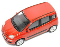 Fiat Panda Orangey - Red Model Car 1/43 Scale New and Genuine 50907475
