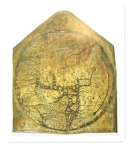 HEREFORD MAPPA MUNDI 1290 UNIQUE RARE HARDBACK REPLICA OF ORIGINAL WORLD MAP