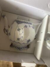 Royal Copenhagen Blue Fluted Full Lace Tea Pot 1Qt 1017228
