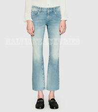 $750 GUCCI JEANS BLEACH WASHED STRETCH DENIM FLARE PANTS 28 / IT 42 / US 6