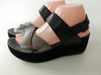 Women's Dansko (Stasia)platform w  Sandal Black/Pewter Burnished Leather Size 38