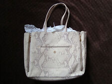 Ann Taylor Gallery Tote Exotic Embossed Leather NEW!