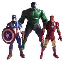 "Marvel Legends Comics Avengers HULK, CAP AMERICA, IRON MAN 6"" toy figure lot ,"