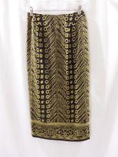 1f83141ce26 Liz Claiborne Collection Petite Women s Brown Tan Wrap Skirt Petite Size 2