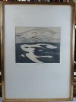 """Otto Eglau """" Dünensee """" Farbradierung Nr. 6 von 100. 1976. Sylt. ca.52x37,5cm"""