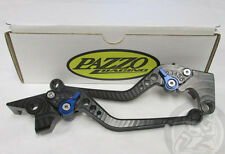 Pazzo Brake and Clutch Levers for Yamaha FZ Series (see list), Black/Blue