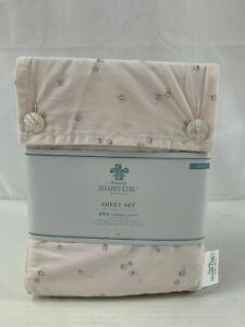 Rachel Ashwell Simply Shabby Chic King Ditsy Rosebud Pink Sheet Set 4 Pc New