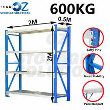 Garage Shelving Longspan Shelving Rack Warehouse Storage Shelves 2M x 2M x 0.5M