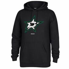 Reebok NHL Dallas Stars Men s Jersey Crest Pullover Hoodie Medium Black d3ec63269