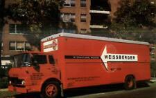 Moving Truck Weissberger International Movers New York City Postcard