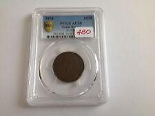 1856 Great Britain Half Penny PCGS AU 50