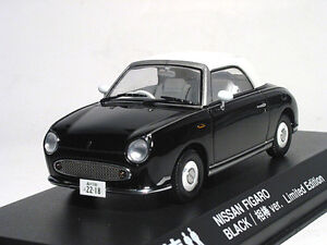 ## Nissan FIGARO 1:43 1/43 DieCast Model Close Black Limited Edition Kyosho RARE