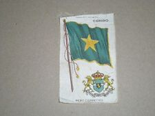 """NEBO TOBACCO SILK  CONGO  FLAG & COAT OF ARMS  4-3/4"""" X 3"""""""