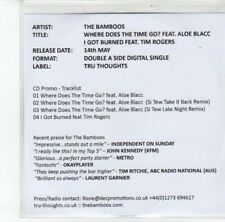 (DK107) The Bamboos, Where Does The Time Go? ft Aloe Blacc - 2012 DJ CD